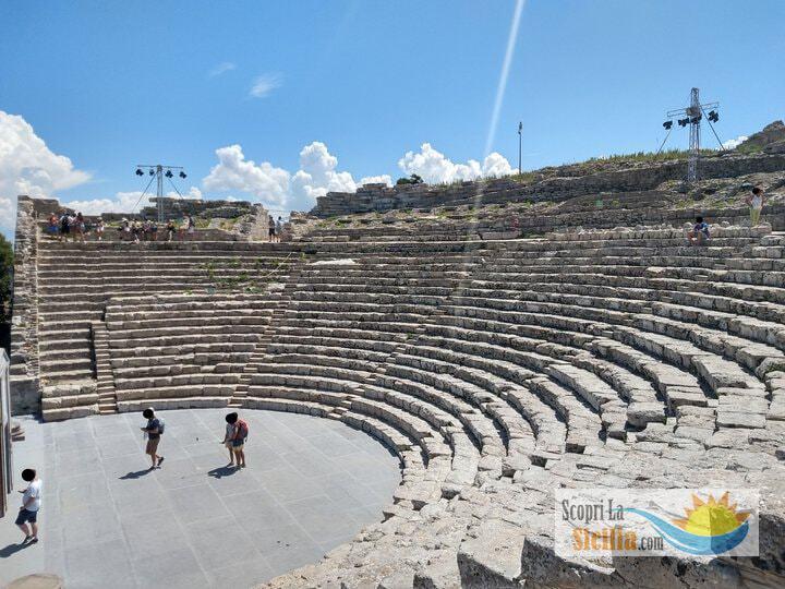 Il Teatro di Segesta, nell'area archeologica di Calatafimi Segesta